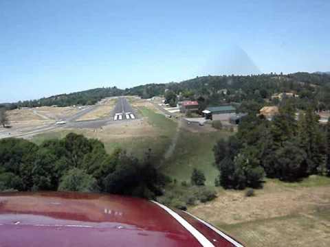 Landing Cessna 182 at Pine Mountain Lake