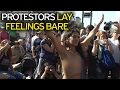 Watch: Topless Women Protest their Right to Sunbathe Semi-Nude Bare Breasted in Argentina