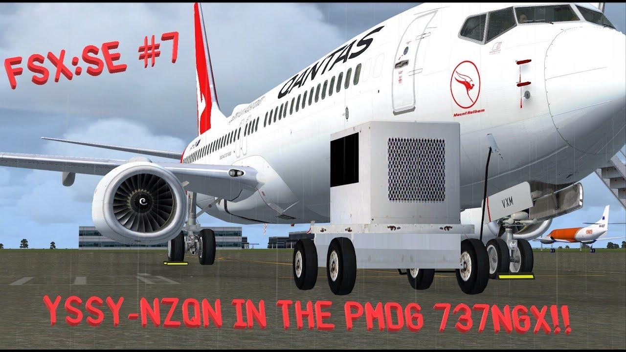 YSSY-NZQN in the PMDG 737NGX! || PMDG 737-838 - FSX: Steam Edition #7