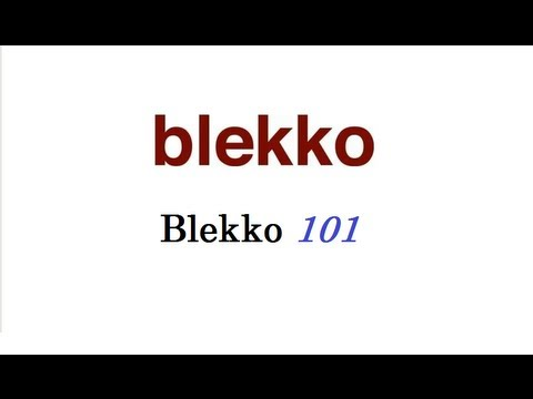 How to use Blekko 101