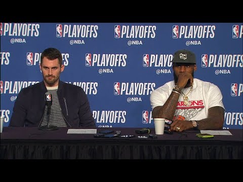 LeBron James & Kevin Love Postgame Interview - Game 4   Raptors vs Cavaliers   2018 NBA Playoffs