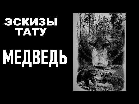 Эскизы тату  Татуировка медведь
