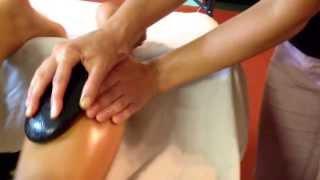 Big Island Academy of massage Full body Pahaku hot stone LomiLomi massage