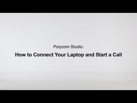 How To Connect Your Laptop And Start A Call - Poly Studio USB - Español