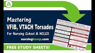 What is Vtach Vfib Torsades Defib Cardioversion Nursing KAMP NCLEX Prep 2019