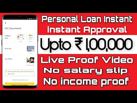 (instant Personal loan ) document, Aadhar Card, and PAN only,  apply fee second live proof