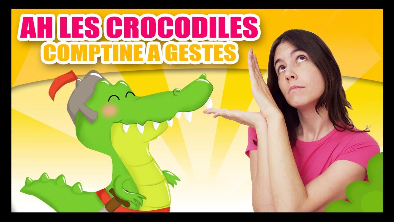 Ah Les Crocodiles Comptines à Gestes Pour Bébés Titounis Youtube