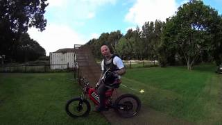 Luke Smith Stealth electric bike fmx ramp 40ft