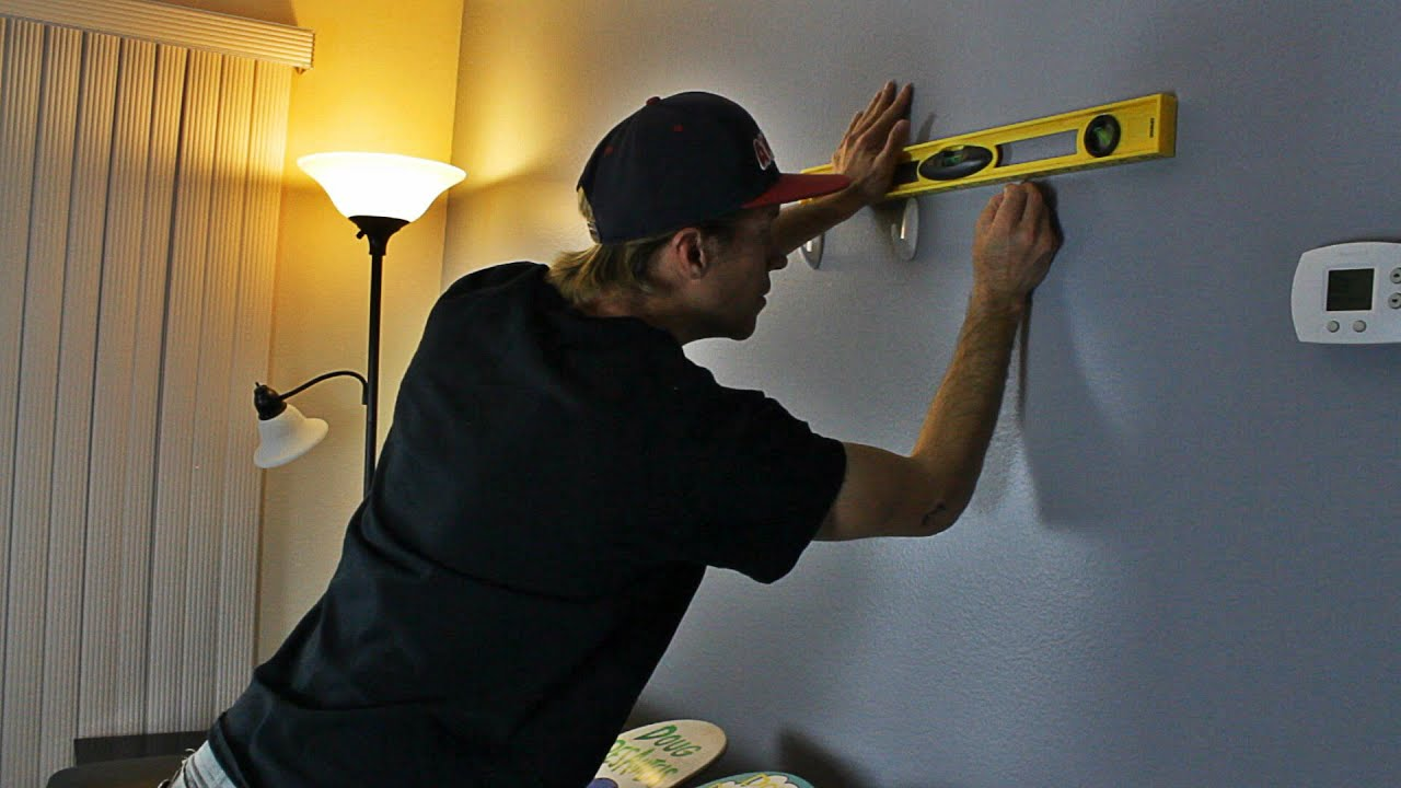 How To Hang Up Skateboards On Your Wall Youtube