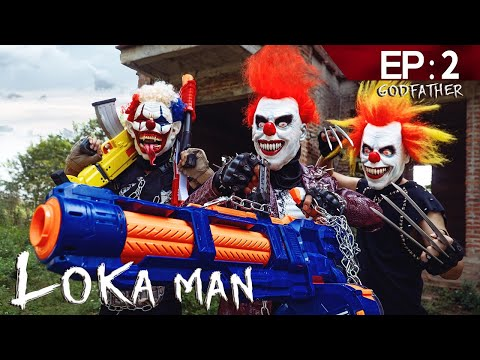 GUGU Nerf War Ep 2 : CID Dragon Nerf Guns Fight Boss Loka Mask Family Worin And Tick