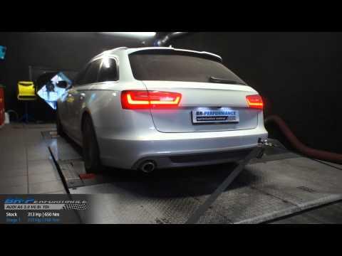 Reprogrammation Moteur Audi A6 C7 3.0 V6 TDI CR 313hp @ 355hp par BR-Performance