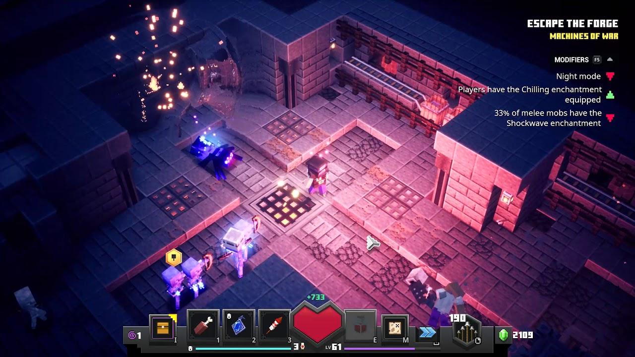 Minecraft Dungeons  SEASONAL TRIAL  Fiery Forge Default VI