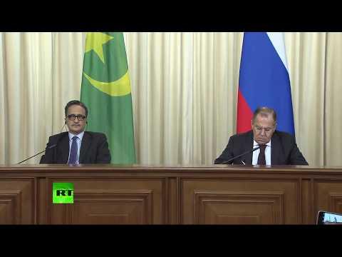 Conférence de presse des ministres russes et mauritaniens des Affaires étrangères