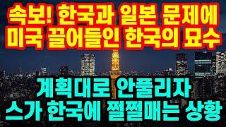 속보, 한국과 일본 문제에 미국 끌어들인 한국의 묘수
