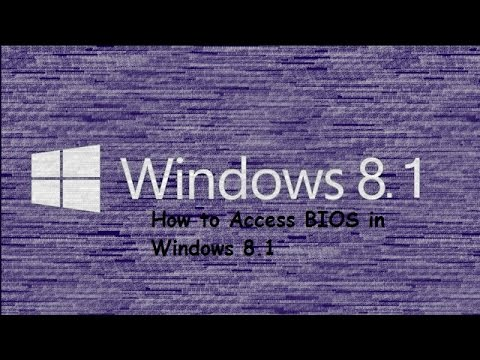 how to open bios settings in windows 8