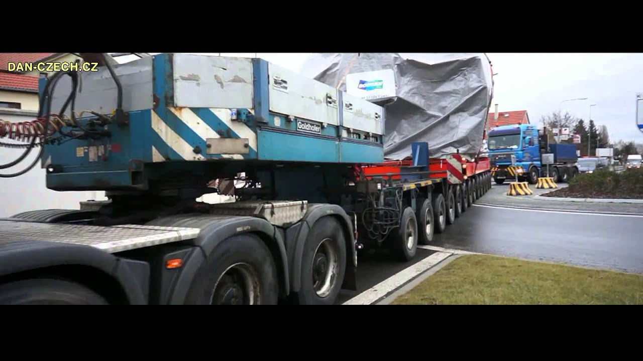 Transportation of a steam turbine for the project Vartan Sweden