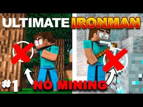 Minecraft Ultimate Ironman   NO MINING CHALLENGE   Episode 1