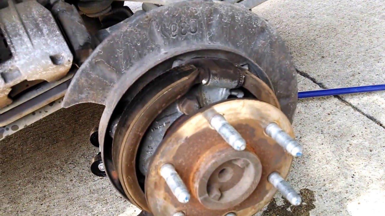 Tightening Parking brake on 2003 Chevy Silverado  YouTube