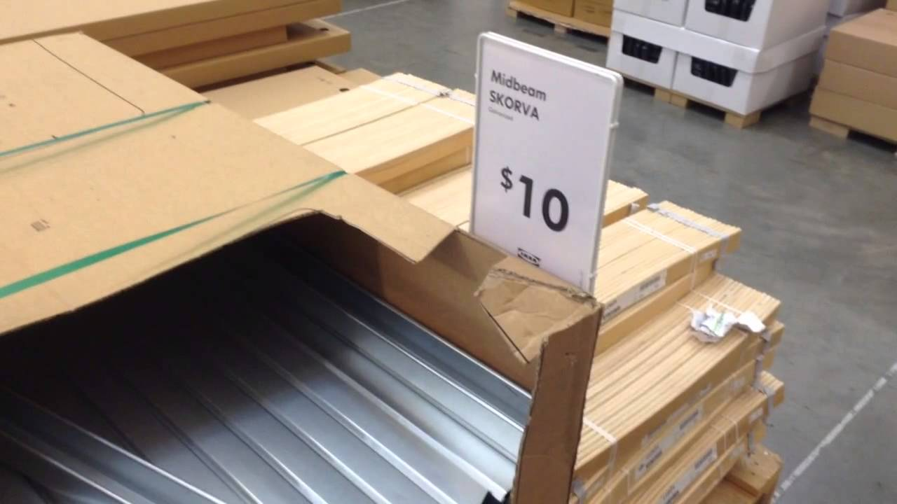 Ikea bed frame mattress support beam explained - YouTube