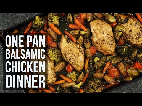 One Pan Balsamic Chicken Dinner   Sheet Pan Dinner Recipe by Forkly
