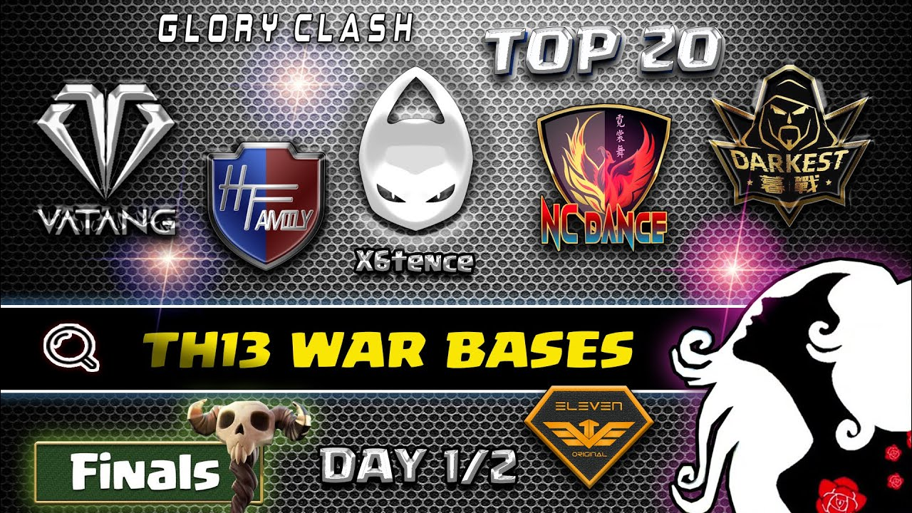 *Strong* Top player Best Th13 war bases TOP 20/World Championship Final Day1/2 Clash of clans #670