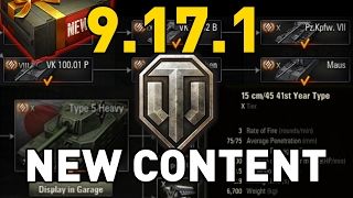 world of Tanks  Patch 9.17.1 - New Content!