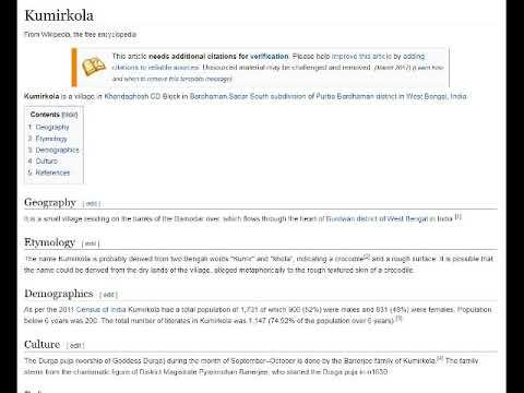 Wade's Wikipedia Random Button Adventures - Kumirkola
