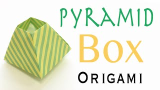 Pyramid Box Pot Origami Paper Tutorial - Origami Kawaii〔#088〕