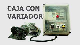 VARIADOR CON MOTOR INSTALADO EN CUADRO CON INVERSOR DE GIRO Y REGULACIÓN DE VELOCIDAD