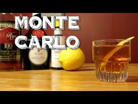 Monte Carlo - a Vintage Cocktail with Rye Whiskey & Benedictine (Similar to a Manhattan)