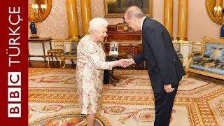 Cumhurbaşkanı Erdoğan İngiltere Kraliçesi 2. Elizabeth'i ziyaret etti