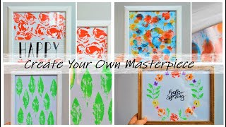 Project N°7:  DIY Create Your Own piece of Art ✨طريقة صنع لوحات فنية