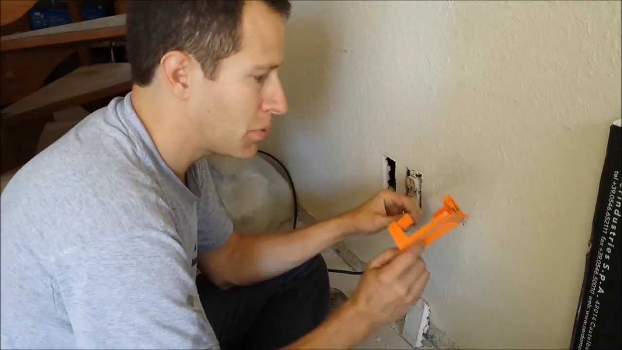 How To Install And Split A Coax Cable Outlet Youtube