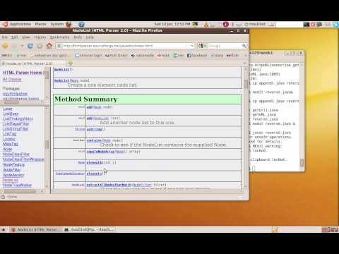 Using The Java HTML Parser At Http://htmlparser.sourceforge.net/