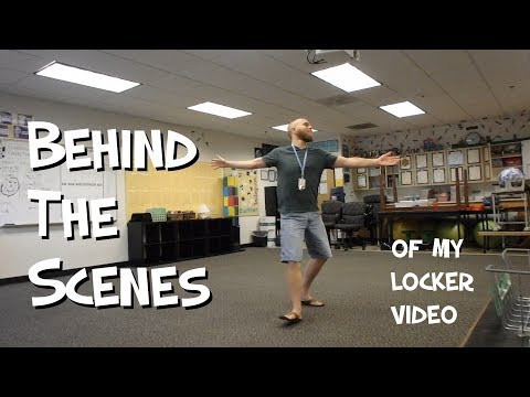 BEHIND THE SCENES of this year's locker video - Mr. Riedl