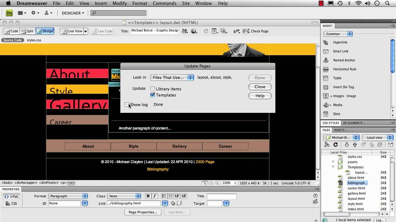 Creating A Template Dreamweaver YouTube - Dreamweaver ebay template