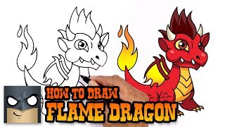 How to Draw Flame Dragon | Dragon City