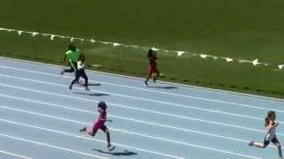 Icahn Stadium 2015 8 & under girls 100m Brianna Shepherd