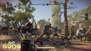 Assassin's Creed Odyssey: Conquest Battle Speedclear with overpowered Hunter Build