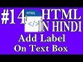 HTML In Hindi #14 - Add Label On Text Box