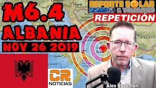 EUROPA EN (((ALERTA SÍSMICA))) POR TERREMOTO M6.4 EN ALBANIA - NOV 26 2019 (((REPETICIÓN)))
