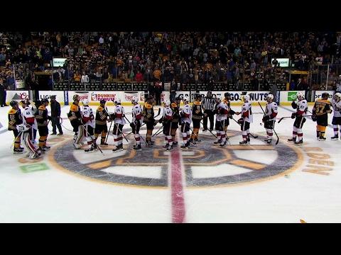 Senators and Bruins shake hands following Game 6