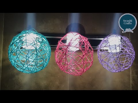 How to make DIY Balloon Orbs | String Balls | Lantern with Yarn | Yarn Balls