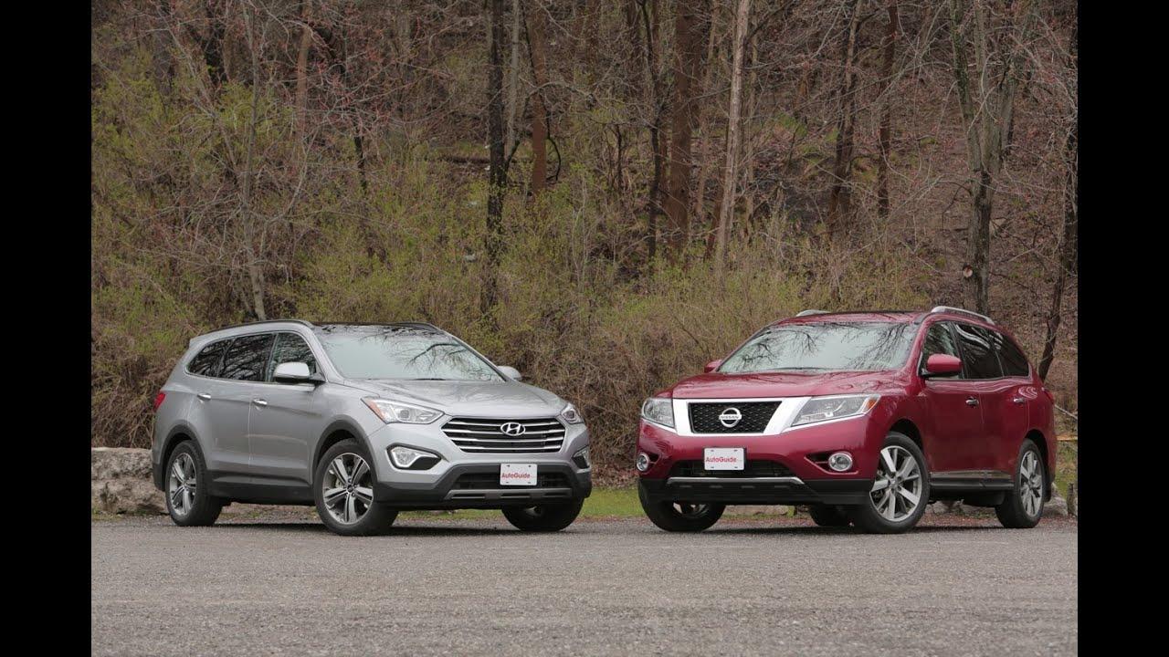 2017 Nissan Pathfinder Vs Hyundai Santa Fe