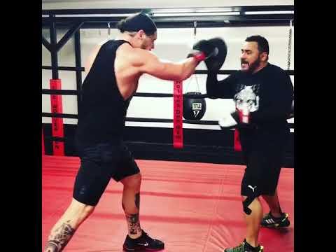 Baron Corbin practising boxing - YouTube