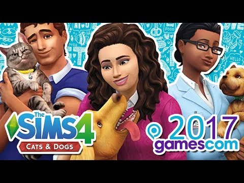 The Sims 4 Cats & Dogs Trailer & Official Announcement at Gamescom 2017!!!!! (Sims Pets PC)