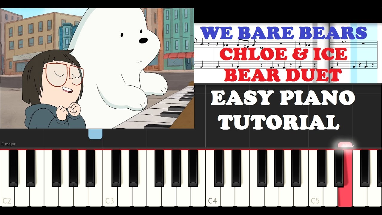 we bare bears chloe ice bear duet easy piano tutorial. Black Bedroom Furniture Sets. Home Design Ideas