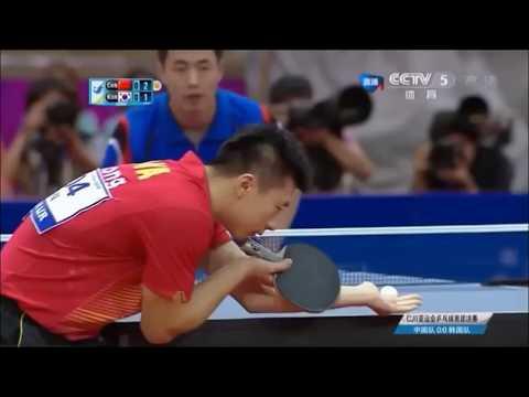Joo Sae Hyuk - South Korean table tennis player - defensive style