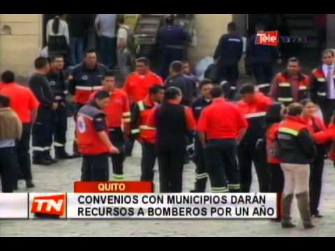Convenios con municipios darán recursos a bomberos por un año