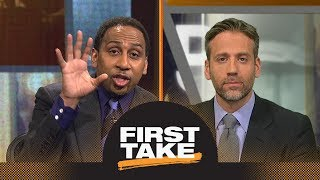 Stephen A. and Max have heated argument about Kevin Durant without Steph Curry | First Take | ESPN